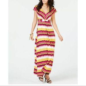 New Thalia Sodi zig zag striped maxi dress Large